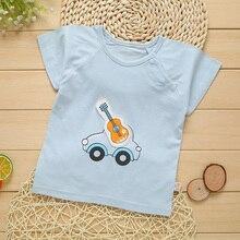 Baby T-Shirt Newborn Infant Summer Girl Boy Cotton Cartoon Patch Bamboo-Fiber 0-12 Months