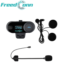 Freedconn TCOM SC Intercomunicador Bluetooth Casco BT Interphone Pantalla OLED FM Radio HD Stereo Headphone 2021 NUEVO