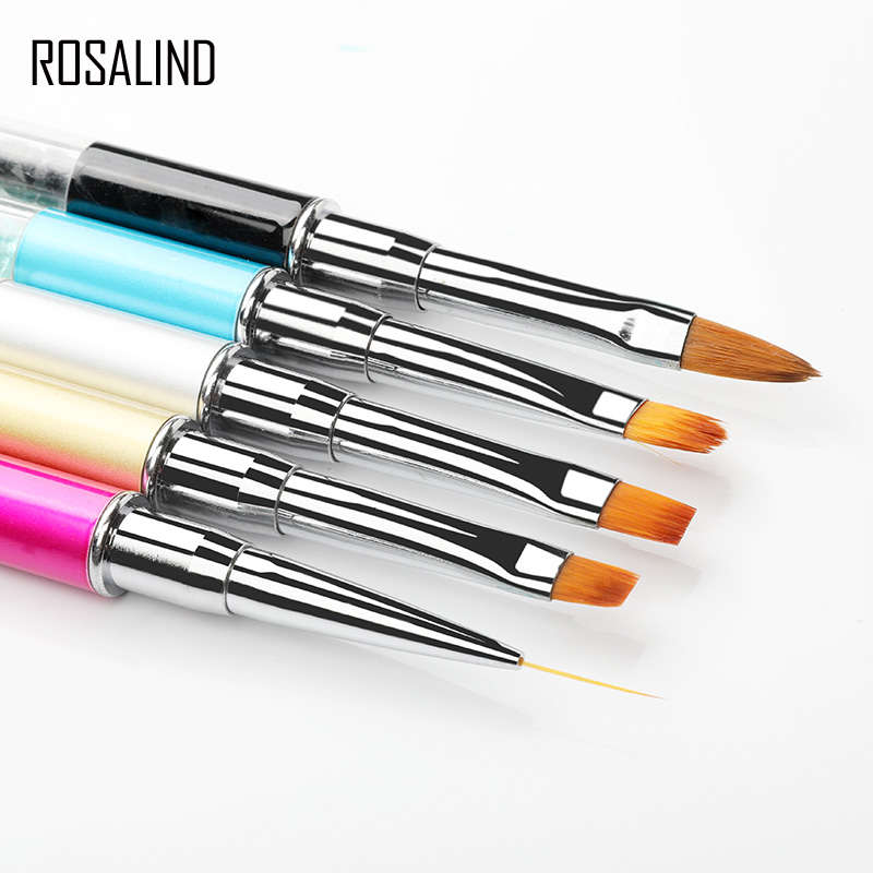 ROSALIND Nail Brush Nail Art Manicure Brushes Set Line Flower Pencel Dotting Painting Design Acrylic Nail Brush For Gel Polish