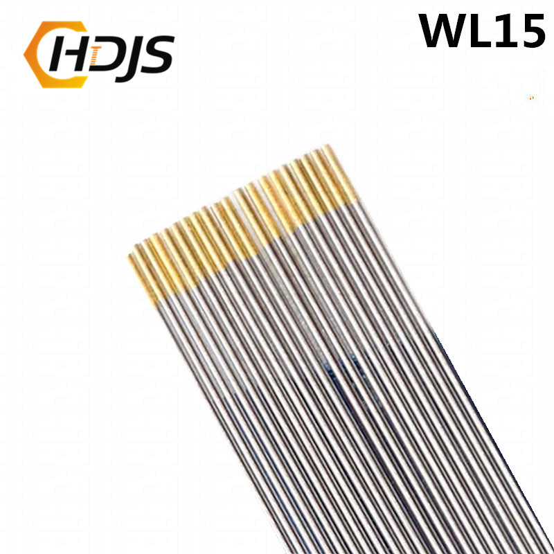 10pcs/ Boxs High Quality 1.6x150mm WL15 Lanthanated Tungsten Gold Electrode Head Tungsten Needle/welding Electrode