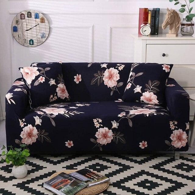 Фото 1 шт чехол для дивана эластичный с цветочным принтом линия стиль цена