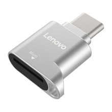 Lenovo D201 USB C TF Card Reader 480Mbps 512GB Type C to TF Mini Memory Card Reader for Sma