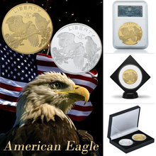 Gold Coins American Eagle Bald Commemorative With Protective Shell