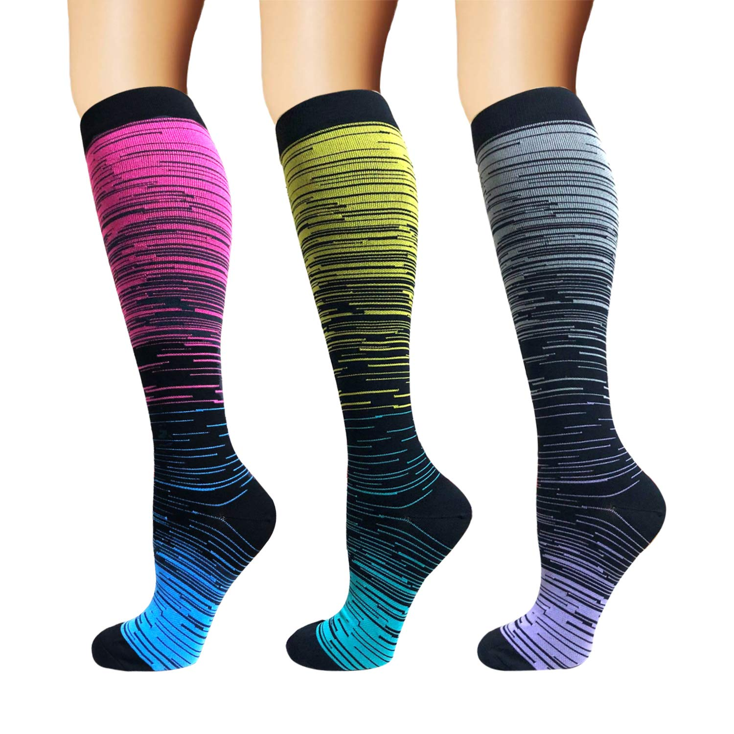 Brothock Nylon Compression Socks Women And Men Stockings Best Medical Nursing Hiking Travel Flight Socks Running Fitness Socks
