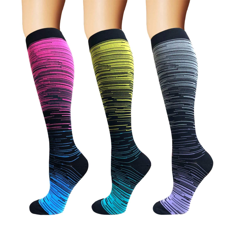 Brothock Nylon Compression Socks Women And Men Stockings Best Medical Nursing Hiking Travel Flight Socks Running Fitness Socks