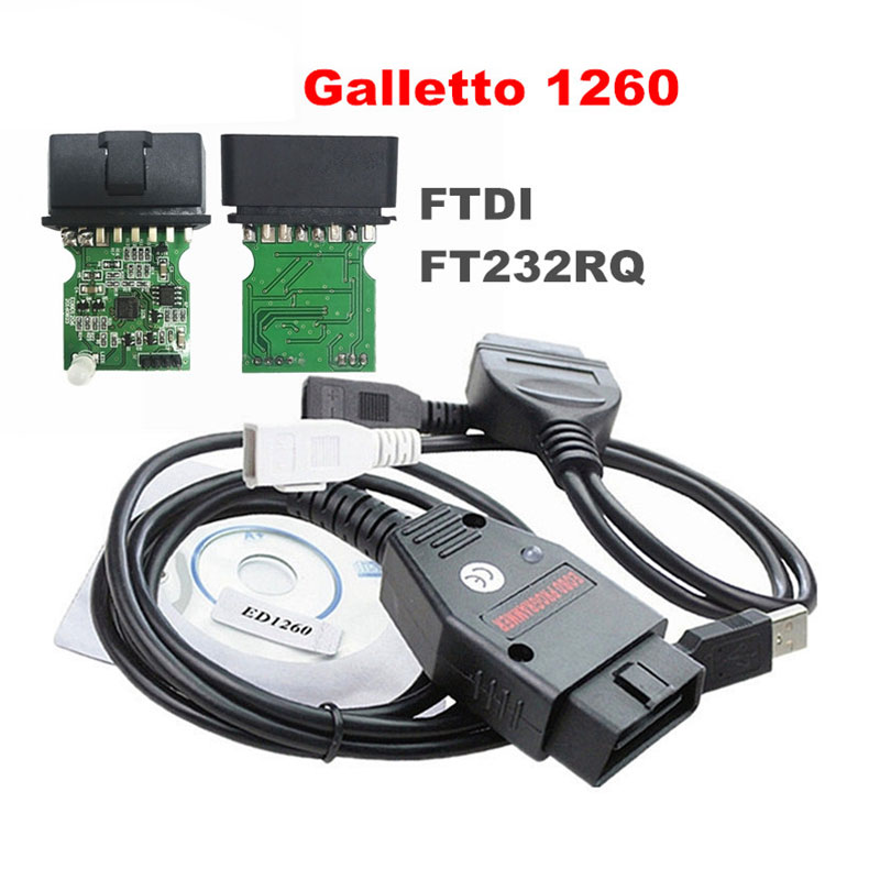 ECU Flasher Obd2 Cable Professional Car Diagnostic Cable Auto Tools Remap Black Galletto 1260