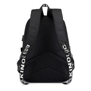 Image 4 - Naruto erkekler için sırt çantası kız çocuk okul çantası Usb şarj ile baskı Sharingan Logo öğrenci dizüstü seyahat sırt çantası erkekler için