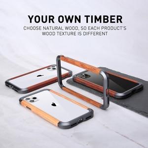 Image 3 - R JUST Cao Cấp Nhôm Kim Loại Gỗ Ốp Lưng cho iPhone SE 2020 11 Pro Max X 7 8 XR XS MAX slim Gỗ Tự Nhiên Thương Hiệu Ốp Điện Thoại