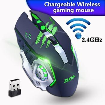Hot Sale!Silent Gaming Wireless Mouse 2.4GHz 2000DPI Rechargeable Wireless Mice USB Optical Game Backlight Mouse For PC Laptop vmw 138 2 4g wireless 2000dpi laser mouse white grey 2 x aaa