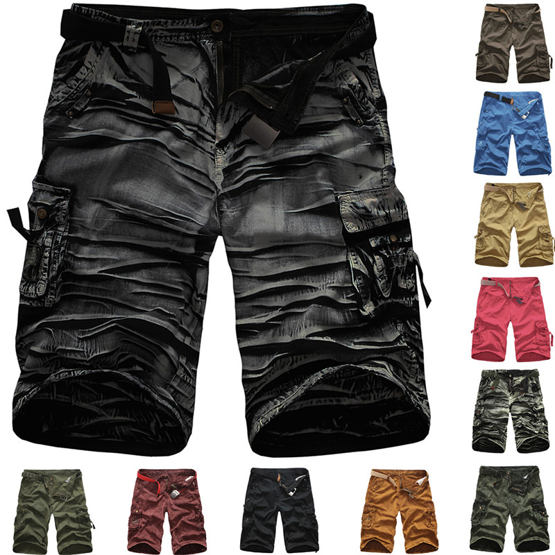 Men's Pants 2020 Overalls Cotton Sand Wash Camouflage Casual Shorts 11 Colors Safari Style Under Armour Men Shorts