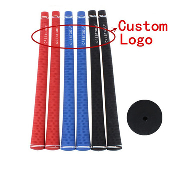 100pcs/lot OEM Custom Logo Accept High Quality Rubber Golf Grips 3 Color Available Golf Club Grips Golf Iron Grips Standard Size high quality of non standard special motor bearings mr125zz size 5 12 4 mm helicopter model car available