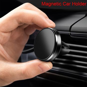 Magnetyczny uchwyt na telefon do telefonu komórkowego na samochód do iPhone 11 Pro Max magnes uchwyt samochodowy na telefon Mini nawigacja GPS stojak na telefon tanie i dobre opinie vacusg Brak funkcji CN (pochodzenie) Uniwersalny Magnetic Air Vent Car Phone Holder uchwyt magnetyczny Magnetic Car Phone Holder for Xiaomi Mi 9