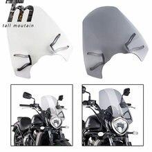 Pare-brise avec support pour moto, pour KAWASAKI Vulcan S 650 EN650 VN650 Cafe 2015 2016 2017 2018 2019 2020, neuf, transparent