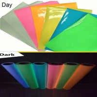 SUNICE DIY Geschenk Design Kleidung Glow in The Dark Eisen-auf Wärme Transfer Vinyl HTV für T-Shirts Hüte Helm nach Größe