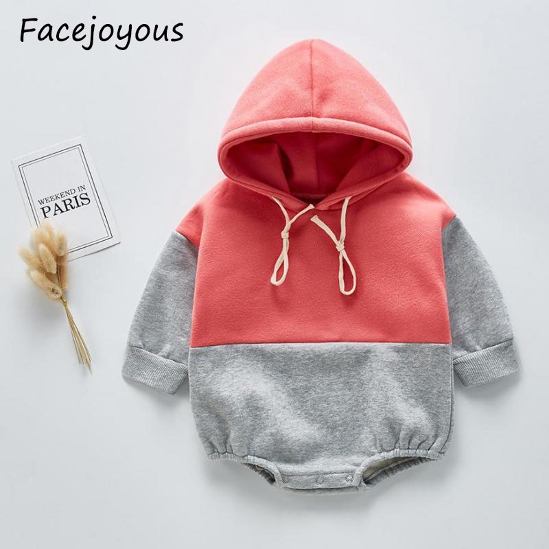 2020 New Cotton Baby Bodysuit Girls Hooded Long Sleeve Bodysuit Baby Boy Jumpsuit Infant Clothes Baby Onesie