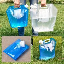 5L PE Water Bag Water Container Bag Water Tank Portable Folding Water Storage Bag For Camping Hiking Survival Hydration Storage naturehike factory store outdoor collapsible water container folding bucket storage pe food grade camping foldable water bag