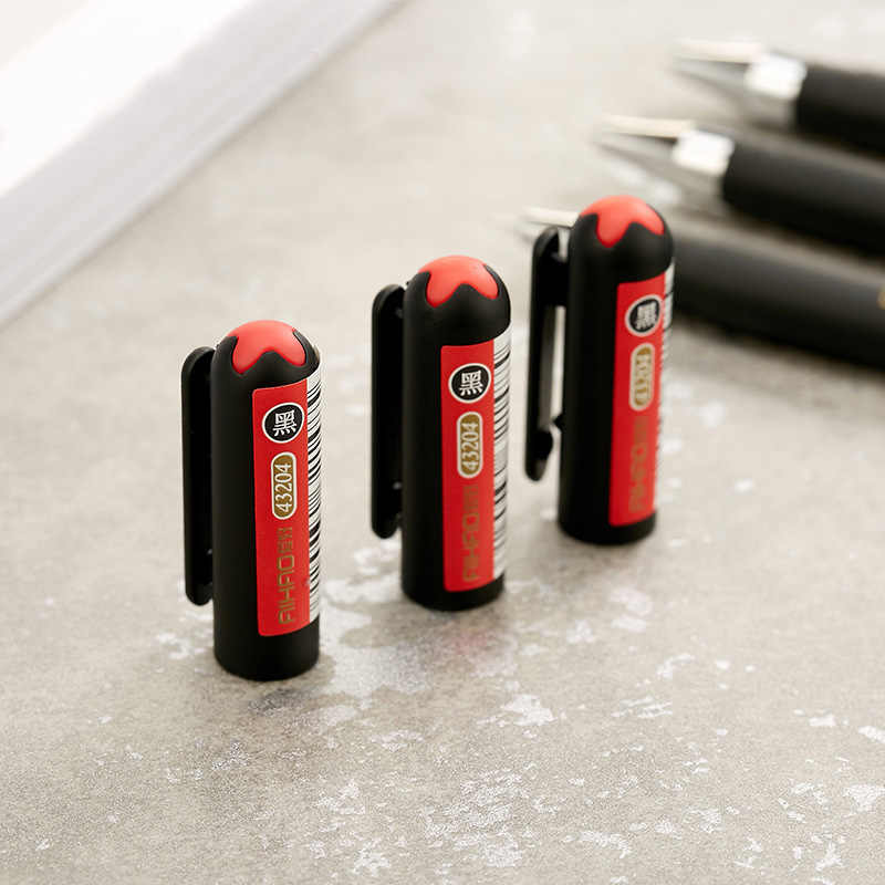 0.3mm siyah finans jel kalemler Kawaii çin zarif jel kalem yazma ofis okul malzemeleri Aihao kırtasiye jel kalem