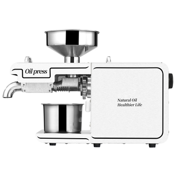 Household oil press, commercial stainless steel frame, small intelligent frying machine for peanut, flaxseed and walnut oil sg30 1 edible peanut oil press machine high oil extraction rate labor saving stainless steel oil presser for household