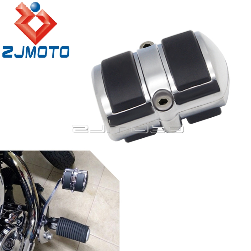 Chrome Gear Shift Lever Peg Brake Pedal <font><b>Cover</b></font> for <font><b>Yamaha</b></font> V-Star <font><b>XVS</b></font> <font><b>650</b></font> 950 1100 1300 Motorbike Accessories Brake Pedal <font><b>Cover</b></font> image