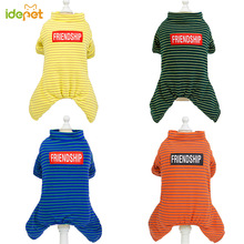 Dog Pajamas Clothing Pet-Jacket Dog-Coats Small Winter Stripe for Jumpsuit Cat Warm Thicken
