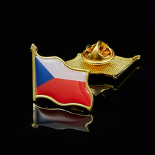 Czech Republic National Waving Metal Lapel Flag Pin Brooch Badge For Costume Accessories argentina flag pin brooch metal national waving badge lapel pin suit