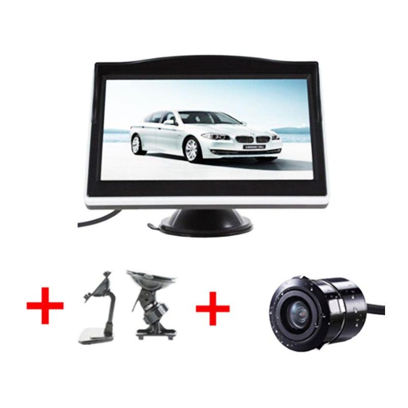5 zoll TFT LCD HD Bildschirm Auto Monitor Parkplatz Rückansicht Monitor für 170 Winkel Fahrzeug Auto Reverse Rückansicht backup Kamera