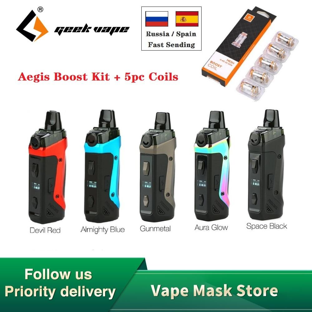 Original Geekvape Aegis Boost Pod Vape Kit With 1500mah Battery & 3.7ml Pod Fit Both Pod & RDTA E-cig Vape Kit Vs Vinci X / Solo