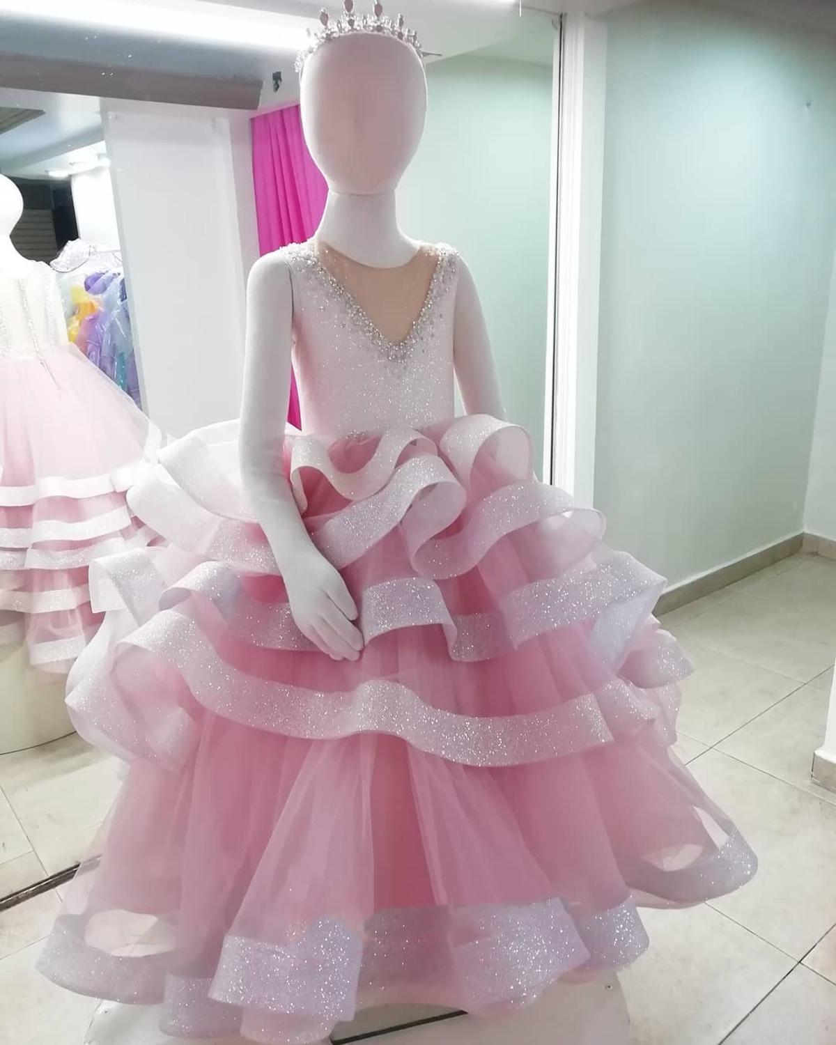 Fluffy Tulle Flower Girl Dresses Applique Sleeveless O-Neck Prom Gown Pageant For Weddings First Holy Communion Dresses