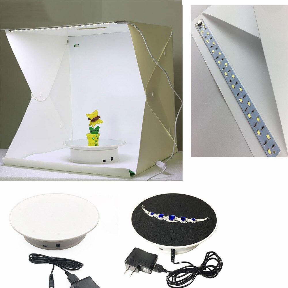360 grad Elektrische Drehteller Display Stand für Fotografie Max Last 1,5 kg video schießen requisiten Plattenspieler 20cm