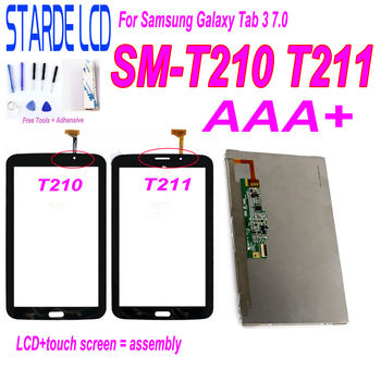 T2105 LCD for Samsung Galaxy Tab 3 7.0 T210 3G SM-T210 T211 SM-T211 Wifi Version LCD Display Touch Screen Digitizer Assembly free shipping for samsung galaxy tab 3 8 0 sm t310 t310 wifi touch screen digitizer glass lcd display assembly replacement