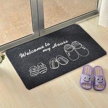 40x60cm Anti-slip Doormat Floor Mat Entrance Door Mats Front Door Feet Floor Rugs Absorbent Bathroom Door Mat Machine Washable pebble series flannel printing home anti slip absorbent entry mat bathroom mat door mat bedside mat