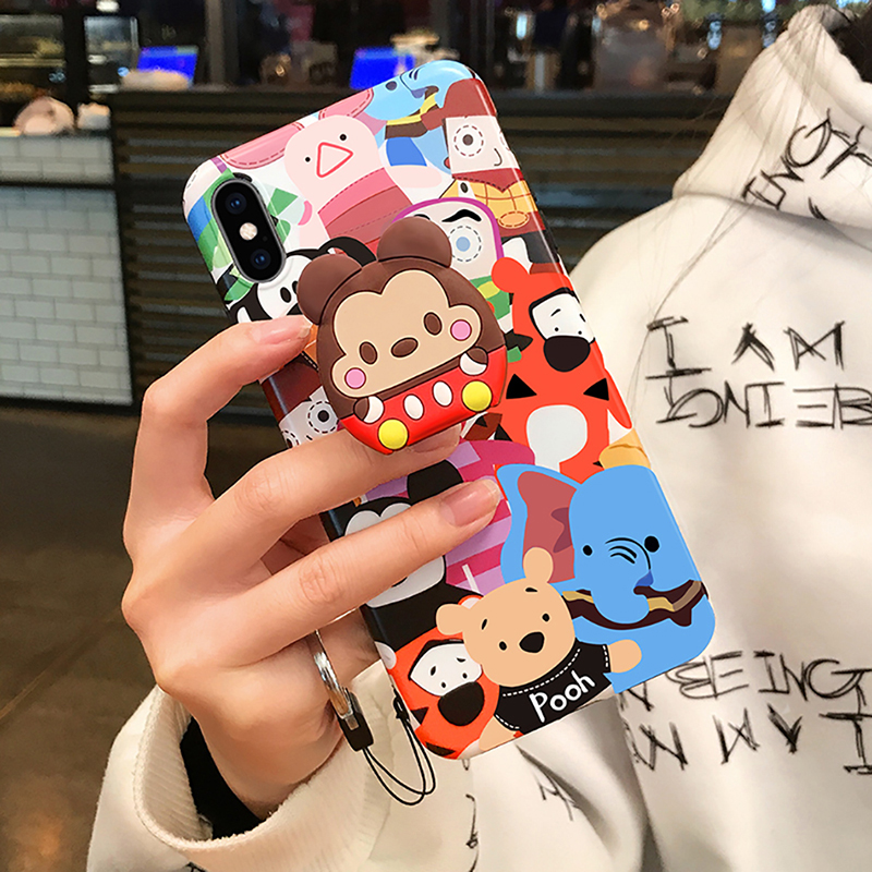 Finger Ring Holder Universal Cute Cartoon Cat Claw Airbag  Smartphone Holder Stand Expanding Grip Stretch Cell Phone Ring Holder