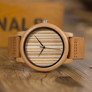 Image 5 - BOBO BIRD Relogio Masculino Promotion Watch Wood Craft Birthday Gift to him Custom Christmas Gifts in Box Wristwatch Leather