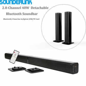 Sounderlink Wireless Abnehmbare Bluetooth TV Soundbar Lautsprecher Heimkino Bar Unterstützung Optische SPDIF AUX IN Für Hause