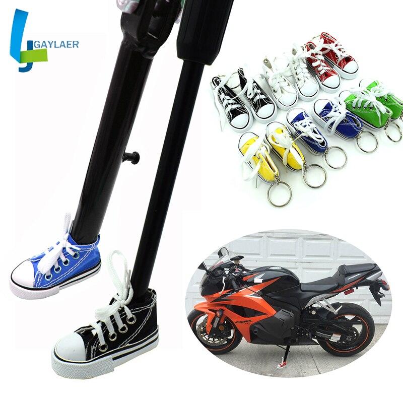 Support du pied de véhicule électrique de moto, support du pied latéral, Mini chaussures, porte-clés