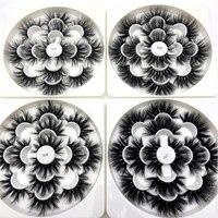 Wholesale 20pack 25mm eyelash 3D real mink volume extra length lashes flower tray cruelty free eyelashes