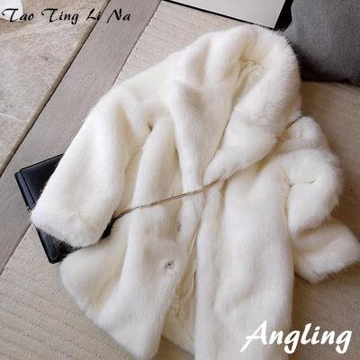 2020 New Style High-end Fashion Women Faux Fur Coat S9
