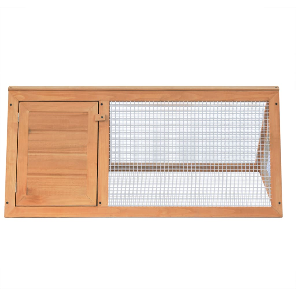 Animal Rabbit Cage Wood Fir Wood Pets Cages For Rabbits Chicken Ducks Iron Wire Mesh Weather Resistant Small Animals Cage