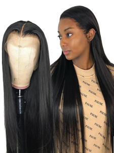 Wigs Short Human-Hair Afro Lace-Front Straight Long Black Women 30inch Brazilian Full