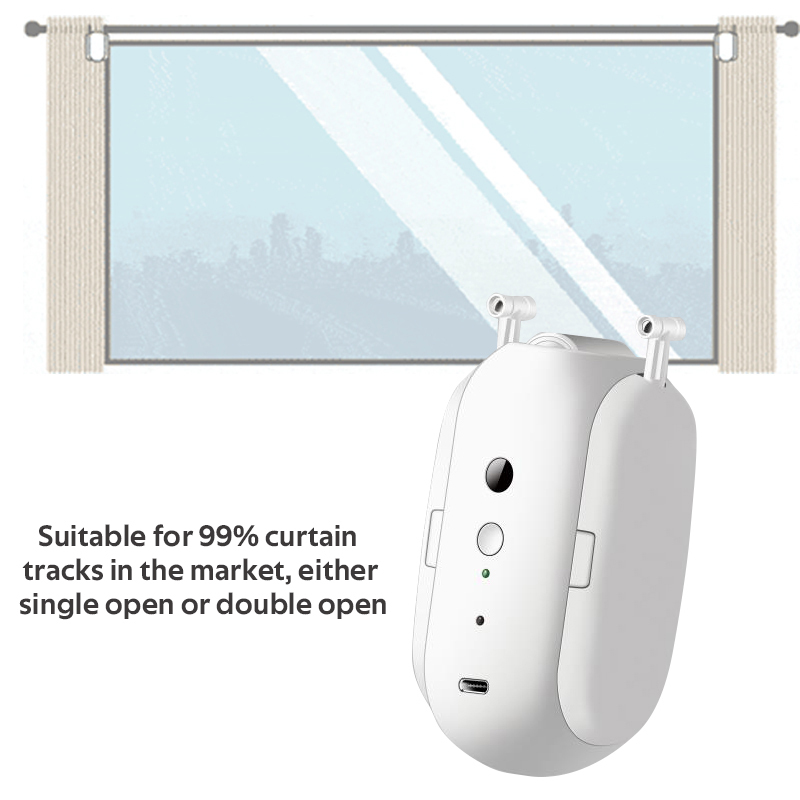 HIMOJO Tuya Smart Curtains  Wireless Automatic Curtain Opener Rechargeable Switch bot Curtains Remote Control Alexa Google Home 5