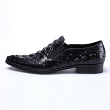QYFCIOUFU Mens Formal Shoes Genuine Leather Oxford Shoes For Men Italian 2019 Dress Shoes Wedding Laces Leather Crocodile Shoes