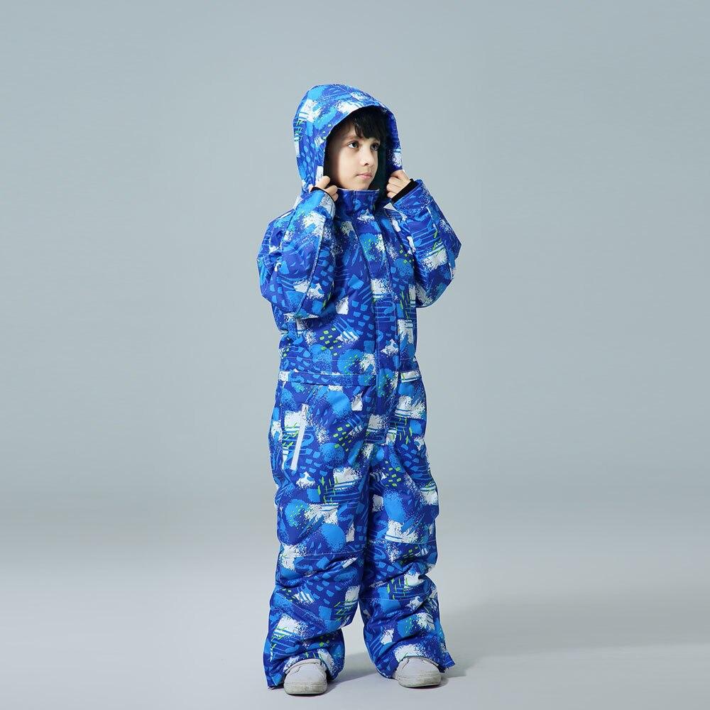 Winter -30 Temperature Kids Piece Ski Suit Children Brands Waterproof Warm Boy Snow Jacket Skiing And Snowboarding Jacket Child