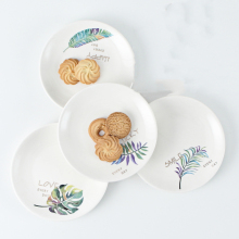 4 Pieces / Set of Ceramic Small Dish Paint Plate Soy Sauce Dish Jam Bowl Dish Fruit Dish Cake Dish Snack Dish Tableware Gift ceramic sauce dish home soy sauce dish snack sauce creative cutlery set for home kitchen supplies