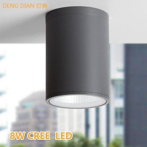 moderna lampada do teto ao ar livre a prova dwaterproof agua led downlights de aluminio