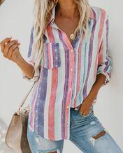 Женская рубашка с длинным рукавом harajuku Повседневная летняя