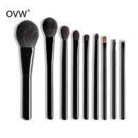 OVW DLH cepillos kit de maquillaje pincel macrilan resaltador cepillo kit de maquiagem juego de brochas de maquillaje de cabra sintético