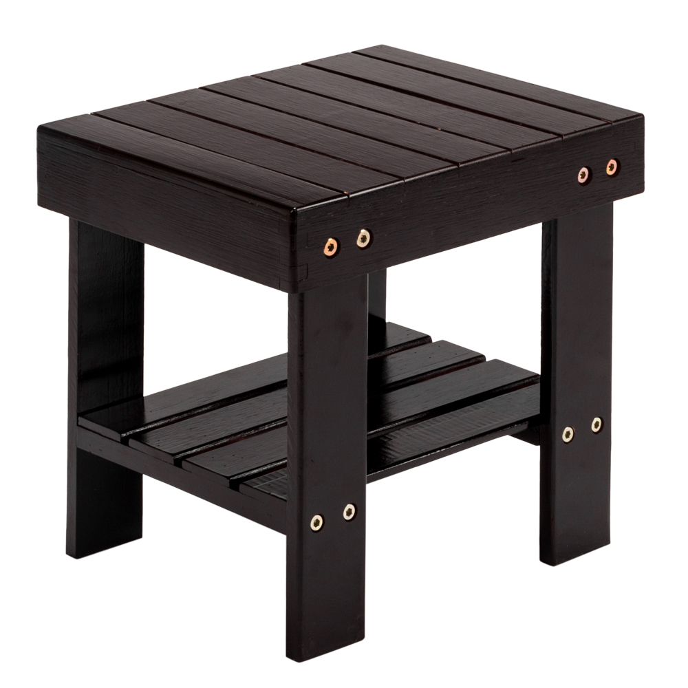 Small Square Children Bench Low Bamboo Stool Bamboo Modern Home Stool Living Room Bedroom Entryway Foyer