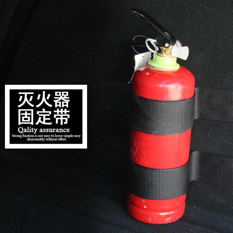 لوازم السيارات سيارة جذع طفاية حريق ضمادة القماش سيارة شنت شرائح تثبيت الفيلكرو R-21908
