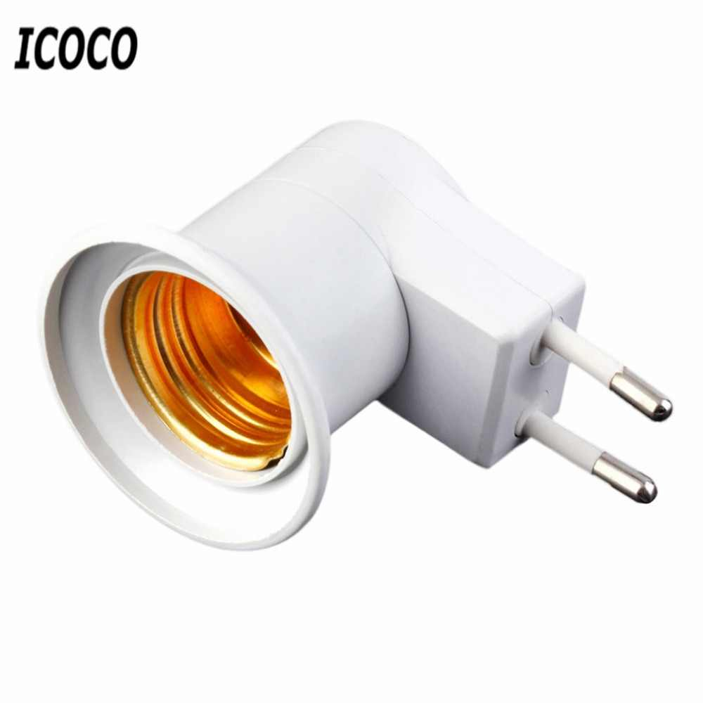 ICOCO E27 Professional Super Lamp Light Wall Socket E27 Socket Lamp Base US/EU Plug Lamp Socket With Power on/off Switch