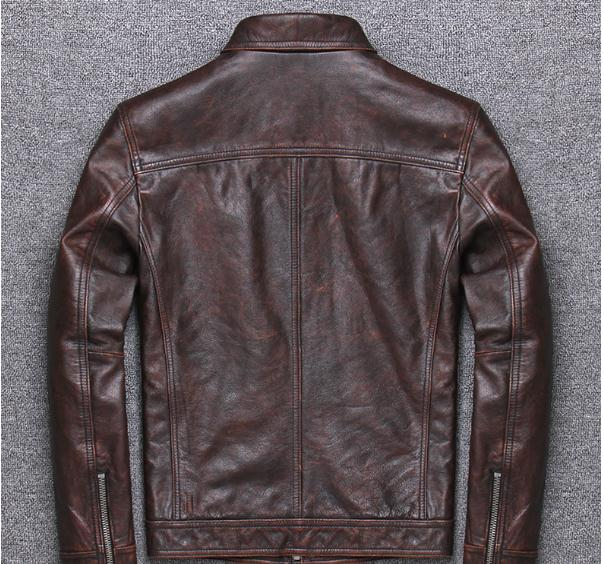 H01ad6c12444141f9b606d2a657db4cec1 YR!Free shipping.sales.Clearance.$99.99 cowhide jacket.mens genuine leather coat.fashion vintage casual leather outwear.classic